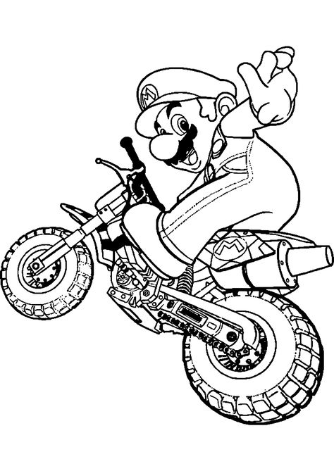 Dessin Motocross Disegni Da Colorare Super Mario Bros