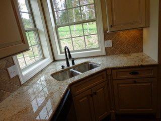 Love The Double Window Corner Sink In The Kitchen Kitchen