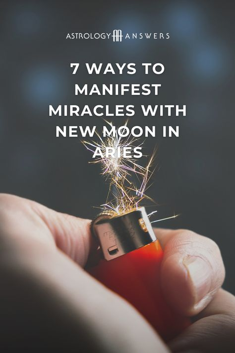A New Moon in the Cardinal Fire sign of Aries means the energy is ripe for planting the seeds of miracles! What springtime miracles will you manifest under this Aries New Moon? #aries #ariesnewmoon #newmoon #astrology #astrologyanswers