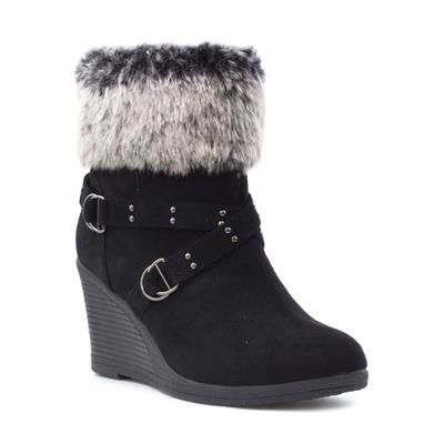 Wedge ankle boots, Black wedge boots, Boots