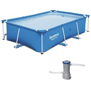 Bestway 8 5 Ft X 5 5 Ft X 24 In Rectangle Above Ground Pool Lowes Com In 2020 In Ground Pools Above Ground Pool Rectangle Above Ground Pool