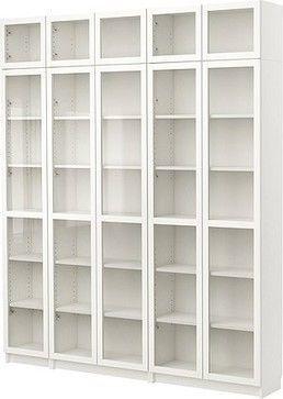 Billy Bucherregal Mit Glastur Modern Bucherregale Von Ikea Billy Bucherregal Bucherregale In 2020 Bookcase With Glass Doors Ikea Bookcase Ikea Billy Bookcase