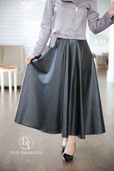 0d63a298e217a8 JUPE TAILLE HAUTE SIMILI CUIR NOIR | Women | Jupe simili cuir, Jupe ...