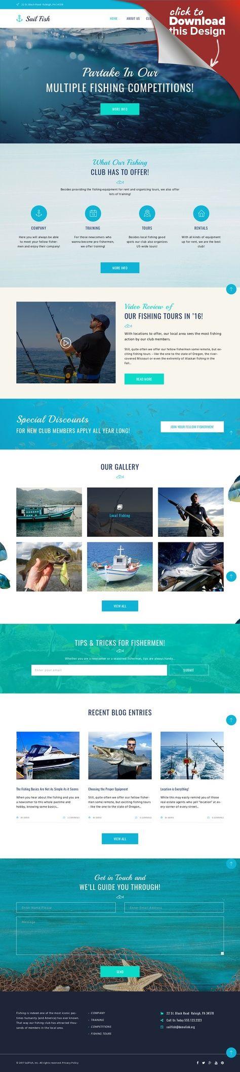 Tema de WordPress para Sitio de Pesca