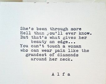 Typed poem on 5x4 stationary She was his by AlfaWorldwide on Etsy #lookingbeautifulquotes