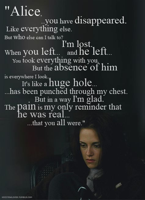 """after reading the book I thought I'd be prepared for Edward leaving Bella for her safety....but this scene with the music in the background, and the sounds of her crying out in her sleep still have me in tears when I watch the movie """"The Twilight Saga New Moon""""."""