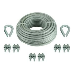 Everbilt 1 8 In X 30 Ft Vinyl Coated Steel Wire Rope Kit 810632 The Home Depot Trellis Plants Vinyl Wire