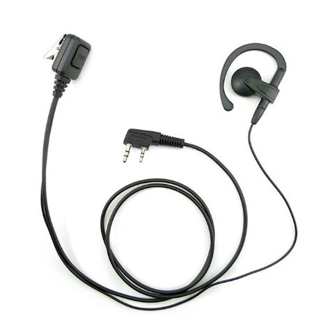 By Lsgoodcare Pack of 5 2 Pin G Shape Ear-Clip Ear Hook Earpiece Headset PTT Mic Compatible for Kenwood PUXING Baofeng Uv-5r 666s 777s 888s Retevis H777 Two Way Radio Walkie Talkie