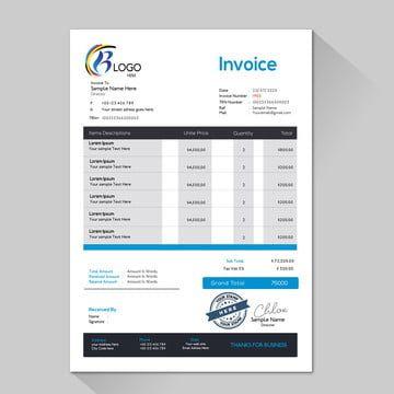 Corporate Business Invoice A4 Size Vector Template Invoice Design Template Business Card Psd Free Letterhead Templates