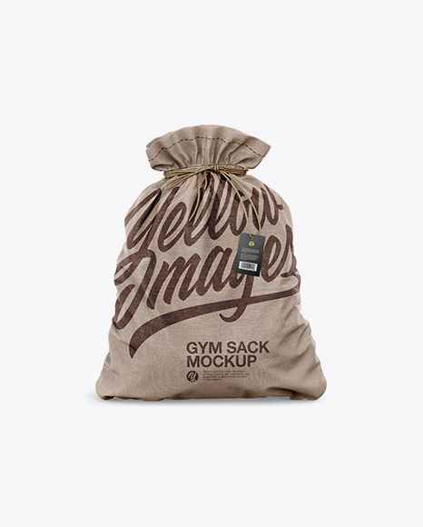 Download Textured Gym Sack W Label Mockup Front View In Apparel Mockups On Yellow Images Object Mockups Mockup Psd Gym Sack Mockup