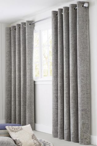 Buy Textured Chenille Eyelet Curtains from the Next UK online shop ...