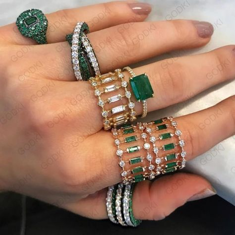 Emeralds and Diamonds💚💚💚Bling. Source by StormAndSunrise Jewelry