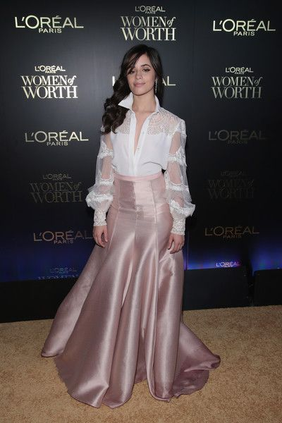 Camila Cabello attends the L'Oreal Paris Women of Worth Celebration 2017.