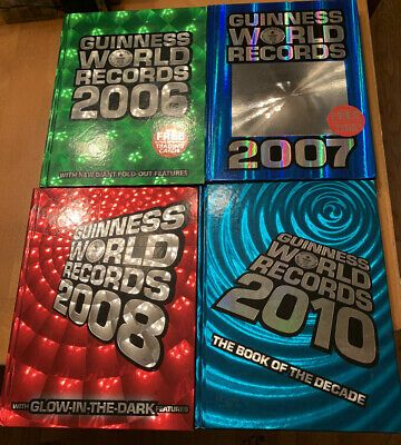 Guinness Books Of World Records Hardcover Lot 2006 08 2010 Glow In Dark More Ebay In 2021 Guinness Book Of World Records Guinness Book Guiness World Records
