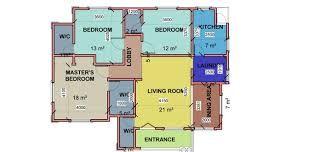 Three Bedroom Plan In Nigeria Google Search 3 Bedroom Home Floor Plans Bedroom Floor Plans Floor Plans