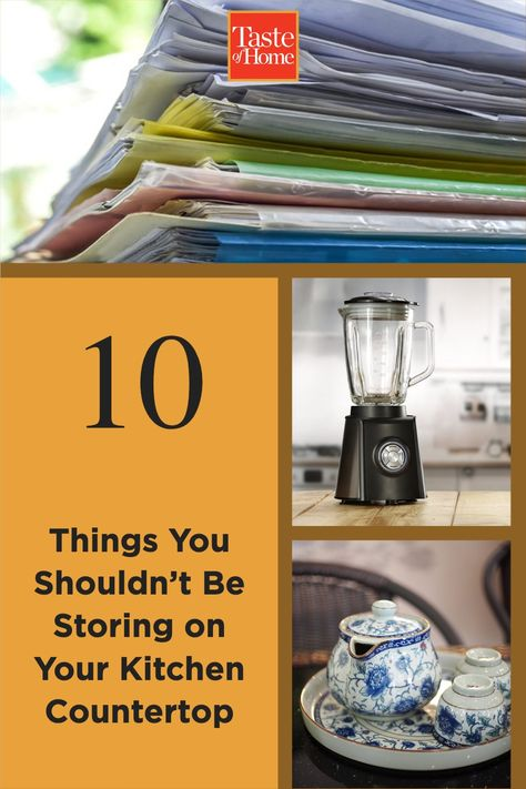 You probably use your kitchen counter as a catch-all for various odds and ends. But there are some things you might not want to keep there.