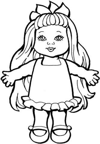 Baby Doll Coloring Page Monster Coloring Pages Doll Drawing Cat Coloring Page