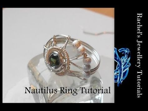 Nautilus shell ring tutorial. would love to try with a basic glass bead instead of a bezel setting