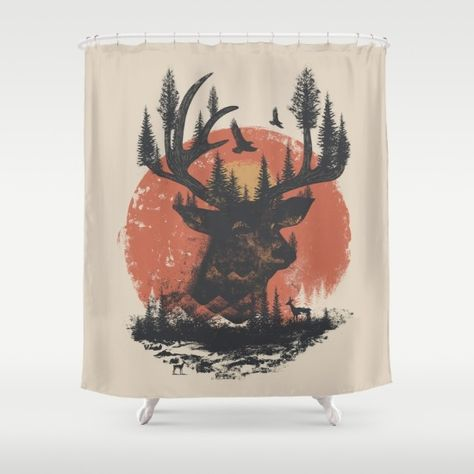 Man Cave Material Ahead This Shower Curtain Is Great For Any Hunting Or Fishing By Dan Elijah G Fajardo Society6 Interiordesign Homedecor