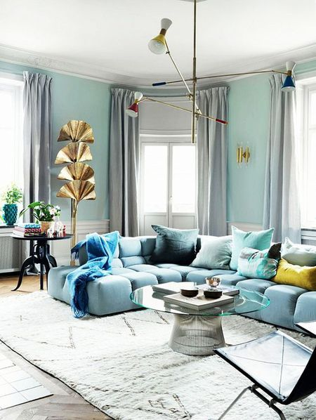 15 Beautiful Blue Rooms Light Blue Living Room Light Blue Couch