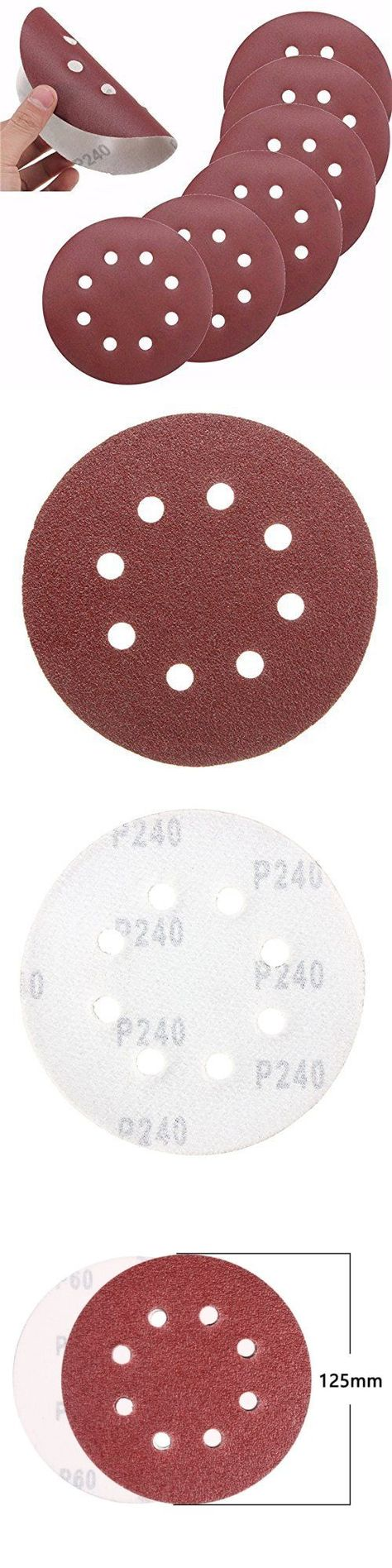 Sander Parts And Accessories 20796 120pcs 5inch 8 Holes 40pcs Hook And Loop Sanding Discs P60 80 120 240 Assorted Sanding Parts And Accessories Kids Rugs