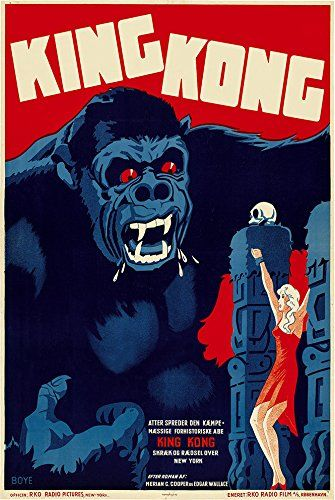 Buy It Now Digital Fusion Prints King Kong 1933 Belgium Movie Poster 24 X 36 Unframed Printed With 200 Y King Kong Movie King Kong Movie Posters Vintage