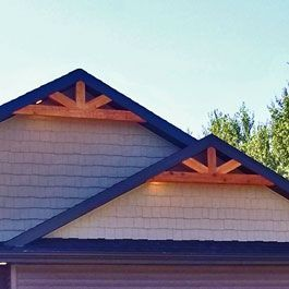 Cedar Bracket Corbel And Gable Ideas Adding Cedar For Curb Appeal In 2020 House Exterior Rustic House Plans Exterior House Renovation