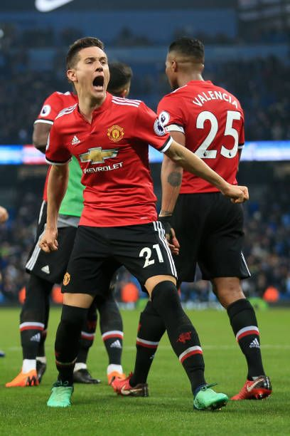 Ander Herrera Of Man Utd Celebrates Victory Following The Premier Manchester United Players Manchester United Football Club Manchester United Football