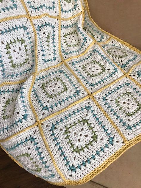 Hakeln Sie Baby Decke Muster Klobige Oma Quadrate Bauernhaus