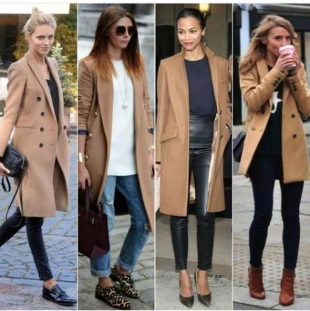 26+ Trendy moda casual chic jeans camel coat