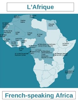 Map Of Francophone Africa.Afrique Francophone Map French Speaking Africa Africa Map