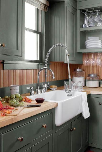 25+ Dark sage green kitchen cabinets inspirations
