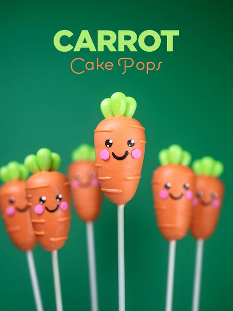 Carrot Cake Pops by Bakerella (Baking Desserts Cakepops) Cupcakes, Cake Cookies, Cupcake Cakes, Poke Cakes, Layer Cakes, Easter Cake Pops, Bakerella, Cake Ball, Cookie Pops