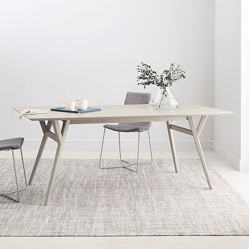 Mid Century Expandable Dining Table Pebble In 2019 Home Decor