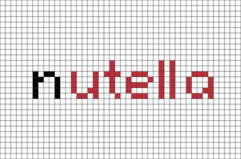 Nutella Pixel Art Dessin Pixel Pixel Art Et Modele Pixel Art