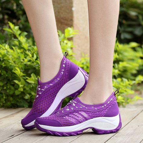7d954c4a13 Barato Mulheres Correndo Calçados Femininos Calçados Esportivos  Antiderrapante Amortecimento Sapatos de Corrida Ao Ar Livre Tênis De Couro  Pu (246)