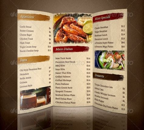 restaurant brochure - Google Search Final project Pinterest - restarunt brochure