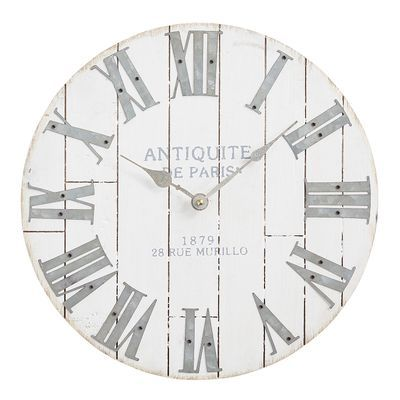An Antique Style Clock That Doesn T Cost A Fortune In Cash And Time Spent Treasure Hunting You Bet Our Pier 1 Exclusive Wall Clock Clock Oversized Wall Clock