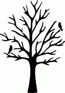 simple tree stencil