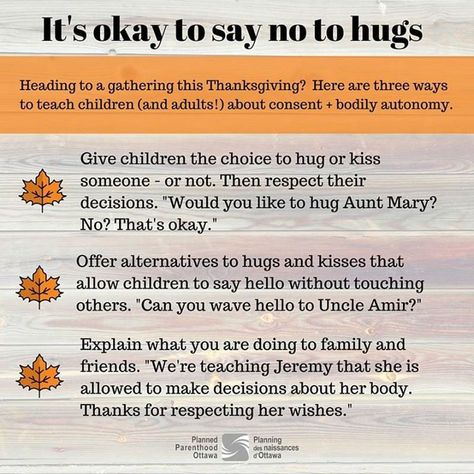 Why you shouldn't force your kids to hug people