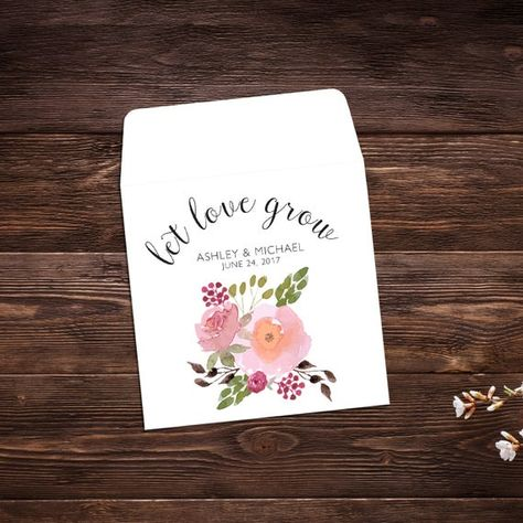 Seed Packet Favor, Seed Packet Envelopes, White #seedpackets #seedfavors #weddingfavors #weddingseedfavor #weddingseedpackets #wildflowers #seedpacket #weddingfavor #seedfavor #bridalshower #seedpacketenvelope #seedpacketfavor #watercolorflowers
