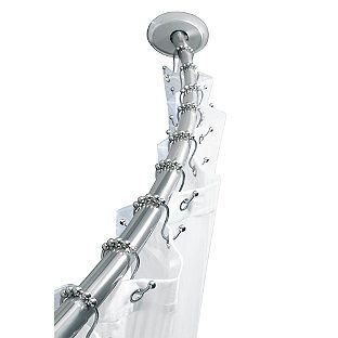 Titan Stainless Steel Dual Install Curved Shower Rod Shower Rod Shower Curtain Rods Shower Accessories