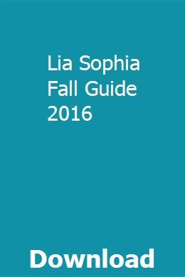 Lia Sophia Fall Guide 2016 Lia Sophia Brochure Online Exam Papers