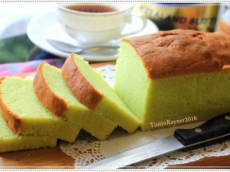 Condensed Milk Pandan Pound Cake 5 Bahan Yummy Resep Resep Kue Bolu Mentega Makanan