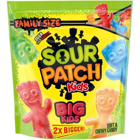 Sour Patch Kids Big Soft Chewy Candy Family Size 1 7 Lb Bag Walmart Com Sour Patch Kids Sour Patch Chewy Candy