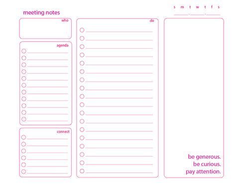 Moxieworks Meeting Notes Template Meeting Notes Meeting Notes Printable