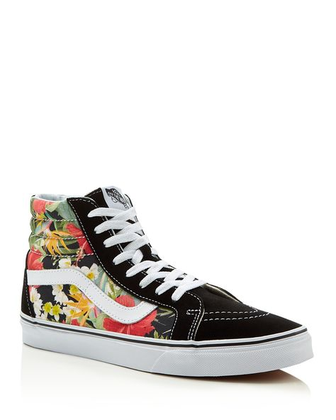e29152fb8f Vans Sk8 Digi Aloha High Top Sneakers - Vivid floral print stands out on  Vans  vintage-inspired high-top sneakers with a soft padded collar.