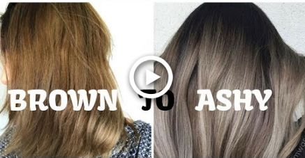 Tone My Brown Hair To Be Ashy Using A Silver Grey Hair Dye Semi Permanent And Permanent Silver Grey Hair Dye Brown Hair Dye Grey Hair Dye