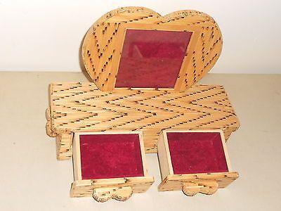 Vintage burnt match jewelry box