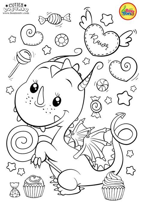 Cuties Coloring Pages For Kids Bonton Tv Slatkice Bojanke Za Printanje Coloring Books Animal Coloring Books Cute Coloring Pages